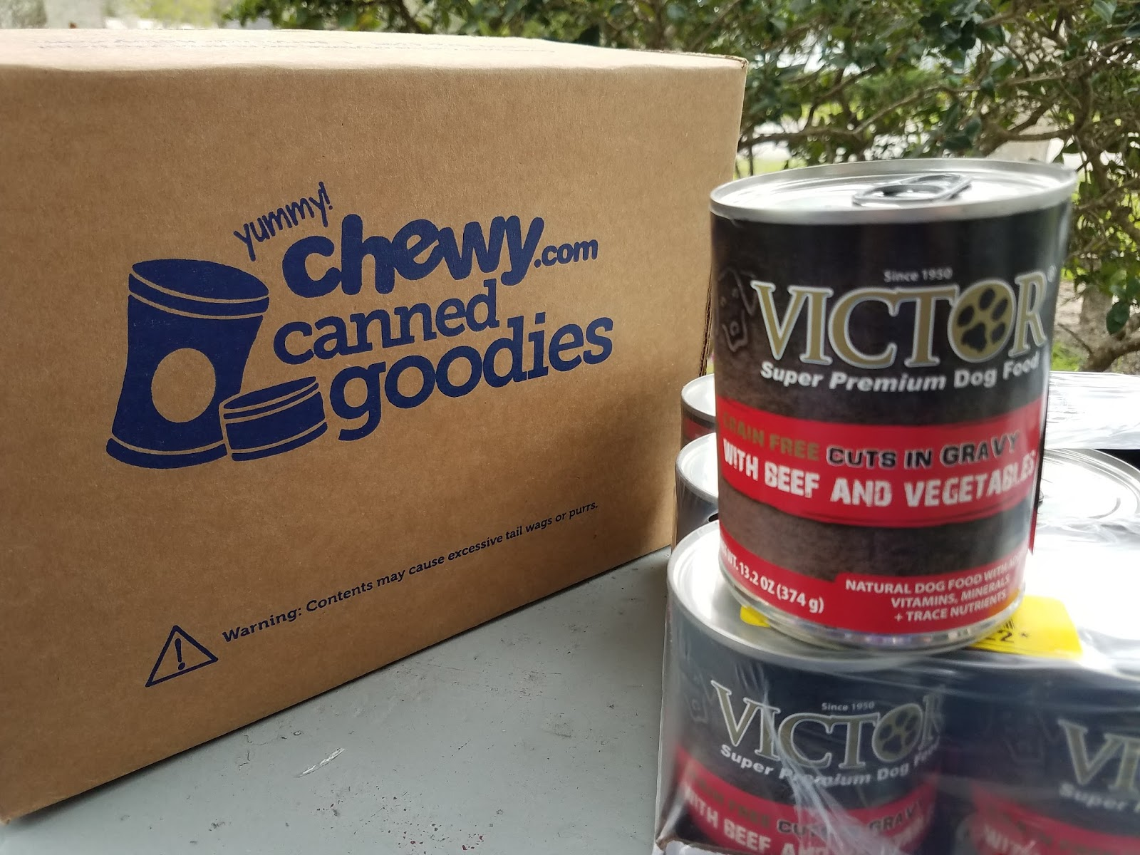 victor canned dog food
