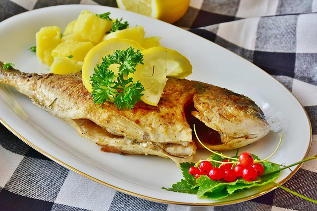 fish-sea-bream-potatoes-kitchen