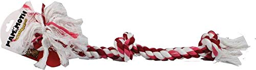 Flossy Chews Cottonblend Color 3-Knot Rope Tug