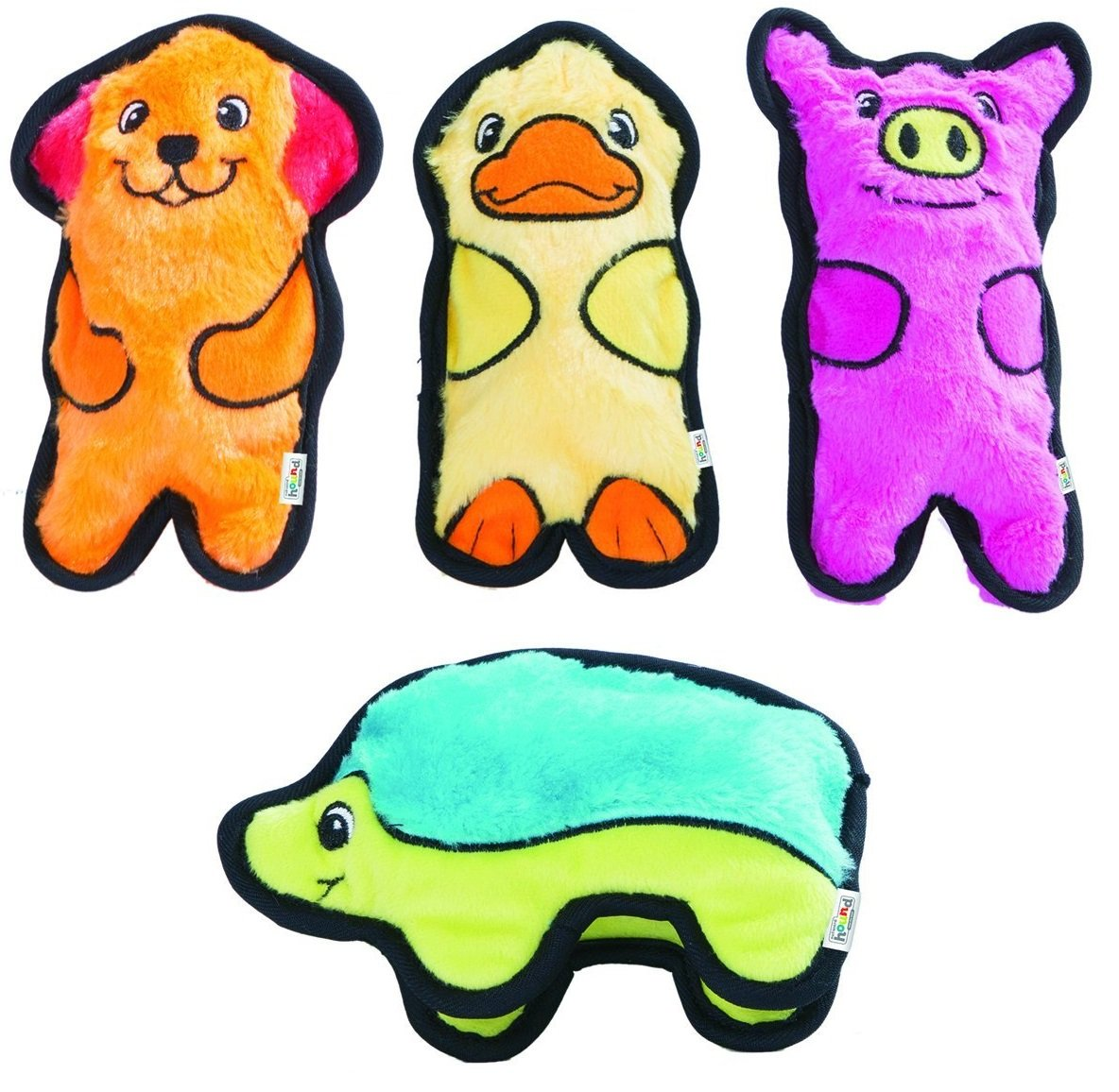 Outward Hound Invincibles Plush Stuffing-Less Dog Toys with Squeaker