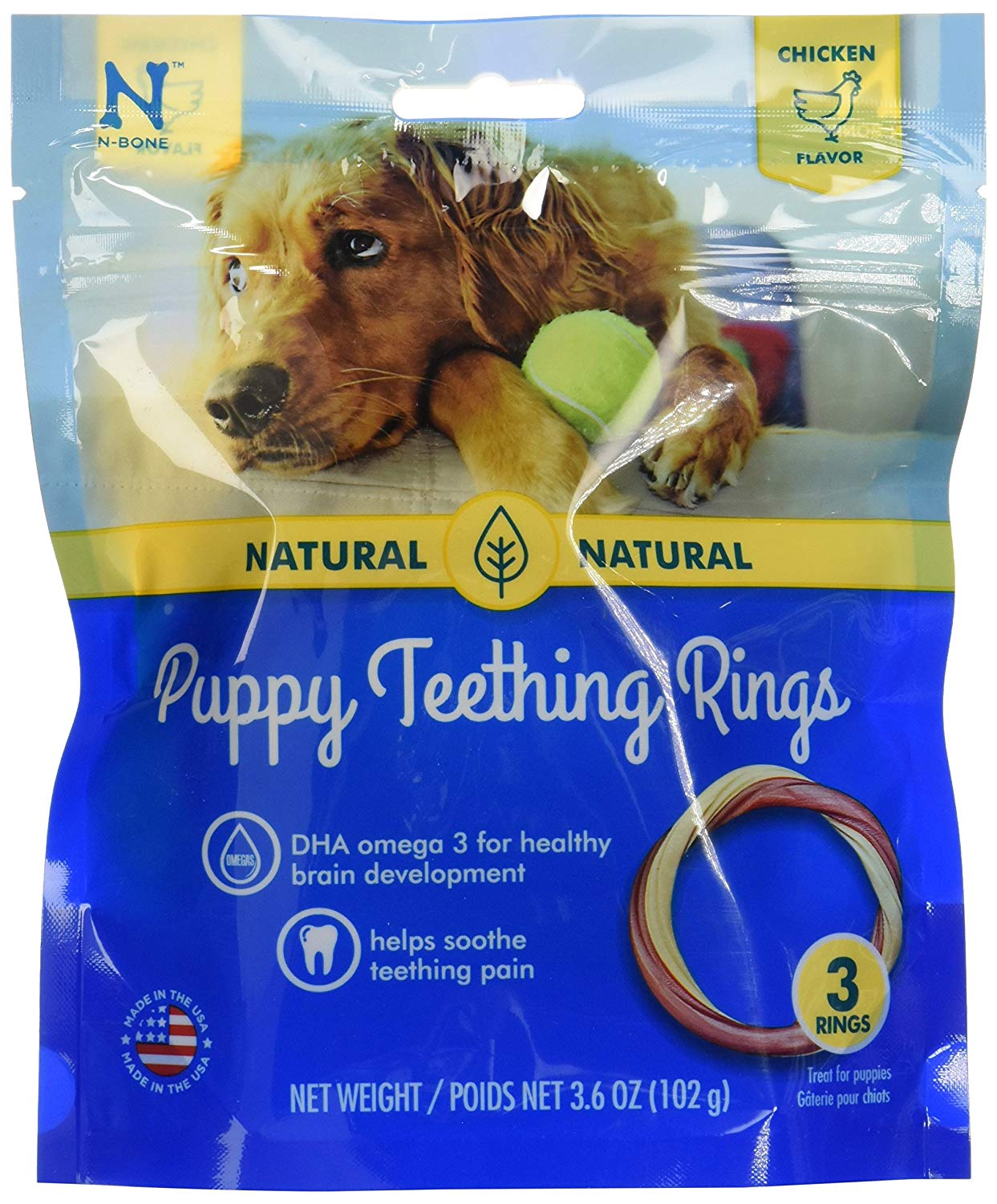 N-Bone 3-Rings Puppy Teething Ring